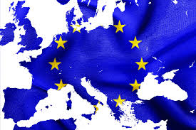 Europe Flag Map by Map Of European Union With Eu Flag