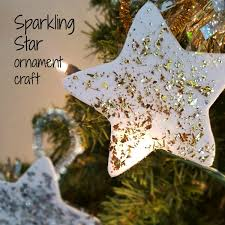 easy sparkling star christmas ornament craft for kids preschool