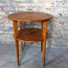 mid century danish side table conant ball russel wright style