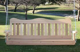 decorative cedar porch swing