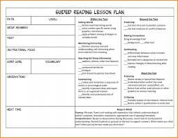 9 lesson plan format nurse resumed guided reading lesson plan