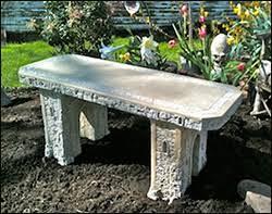 Petrified Wood Bench Concrete