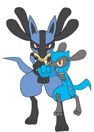 pokemon lucario and riolu by redeyeswolfman on deviantart
