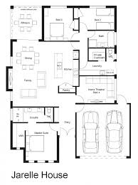 floor plan for affordable 1100 sf house with 3 bedrooms and 2 4 4 bedroom 2 bathroom house plans australia and home design jarelle floor 4 bedroom 2 bathroom