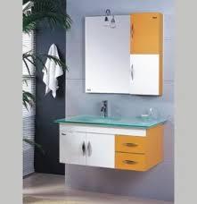 china pvc bathroom furniture white laminate bathroom cabinets wall