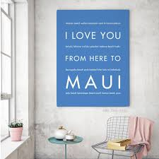 maui hawaiian vacation home decor gift idea hopskipjumppaper
