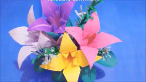 Origami Home Decor by How To Make A Paper Flower Bouquet For Home Decoration Lilly
