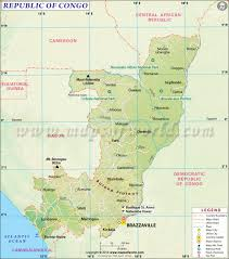 Africa Time Zone Map by Congo Map Map Of Republic Of Congo