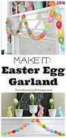 make an easter egg garland with eclectically vintage