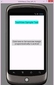 imageview android set textview margin programmatically in android android exles