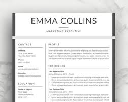 Resume Or Cv Sample by Resume Template Cv Template For Word Professional Resume