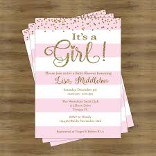baby shower invitations girl pink and gold baby shower invites its a girl baby shower invitation