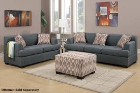 Living Rooms With Grey Sofas by Montreal Grey Fabric Sofa And Loveseat Set Steal A Sofa