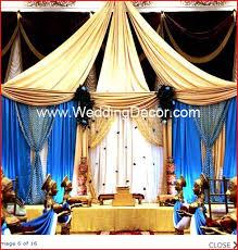 Hindu Wedding Supplies Indian Wedding Decor Cream Gold And Blue Mandap Google Search