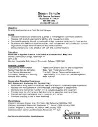 sample resume for food service manager mcdonalds crew member