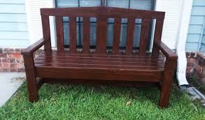 2x4 Outdoor Furniture by Diy 2x4 Bench For Garden Howtospecialist How To Build Step By