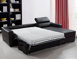 Cheap Black Leather Sectional Sofas by Decorating Black Leather Sectional Sleeper Sofa And White Bedding
