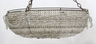 Basket Chandeliers 2 Faceted Glass Basket Chandeliers