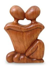 carved wooden sculpture a new family carved gift