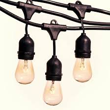 electric cord with light bulb amazon com festive patio lights 48 feet hanging string lighting