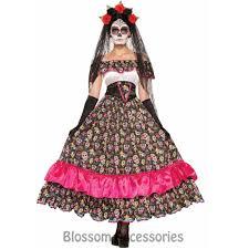 k90 mexican day of the dead skull spanish fancy dress senorita