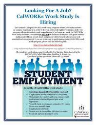 Work Study Resume Hartnell College