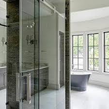 sliding shower doors on rails design ideas