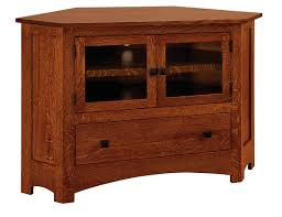 mission style corner tv cabinet mission 050c 49 corner tv stand amish furniture factory amish