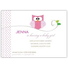 baby shower invites for girl owl girl baby shower invitations paperstyle