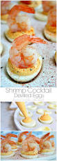 shrimp cocktail deviled eggs recipe appetizer recipes twists