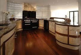 art deco kitchens art deco kitchen with black gas range and glass blocks creating