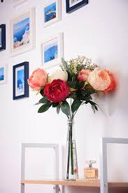 fake flowers for home decor high quality fake peony artificial peony silk flowers bouquet home