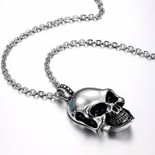 fashion skull necklace images Skull necklace men 316l stainless steel men necklace fashion skull jpg