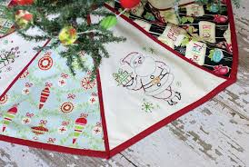 embroidered christmas free project create an embroidered christmas tree skirt martha