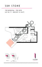Vaughan Mills Floor Plan The Icona Condos Talkcondo