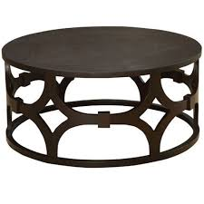 armen living coffee table armen living tuxedo brown round coffee table the classy home
