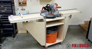 compound miter saw vs table saw how to build a mobile miter saw station part 1 fixthisbuildthat