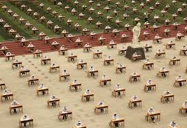 photos of students taking exams all over the world the atlantic