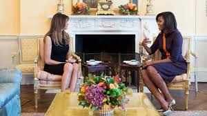 trump redesign oval office melania trump visits michelle obama at white house cnn video
