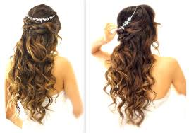 easy party hairstyles for medium length hair easy wedding half updo hairstyle with curls bridal hairstyles