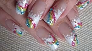 super easy nail art over the rainbow tutorial youtube