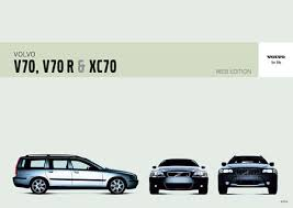 volvo v70 xc70 series owners manuals