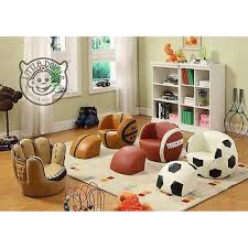 Childrens Faux Leather Armchair Children U0027s Little Quarter Back American Football Chair Kids