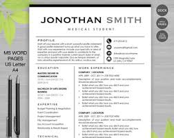Social Media Resume Template Resume Template Cv Template For Ms Word 4 Pack Social