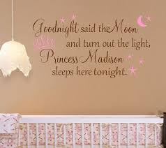 Name Wall Decals For Nursery by Personalized Princess Nursery Quote Words For Your Wall Decal