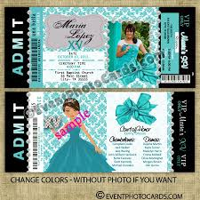 Sweet 15 Invitation Cards Quince Invitaciones For Breakfast At Tiffany