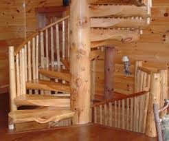 self made wooden log spiral staircase dream home pinterest