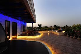 Modern Patio Lighting Contemporary Yellow Colored Outdoor Patio Led Lighting Ideas