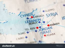 Political Map Middle East by Closeup Beirut Lebanon On Political Map Stock Photo 365702144