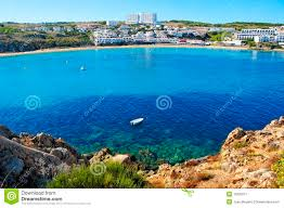 Menorca Spain Map by Arenal D U0027es Castell Beach In Menorca Spain Royalty Free Stock